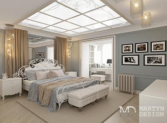 Модерн и ар-деко в интерьере спальни для романтичной девушки