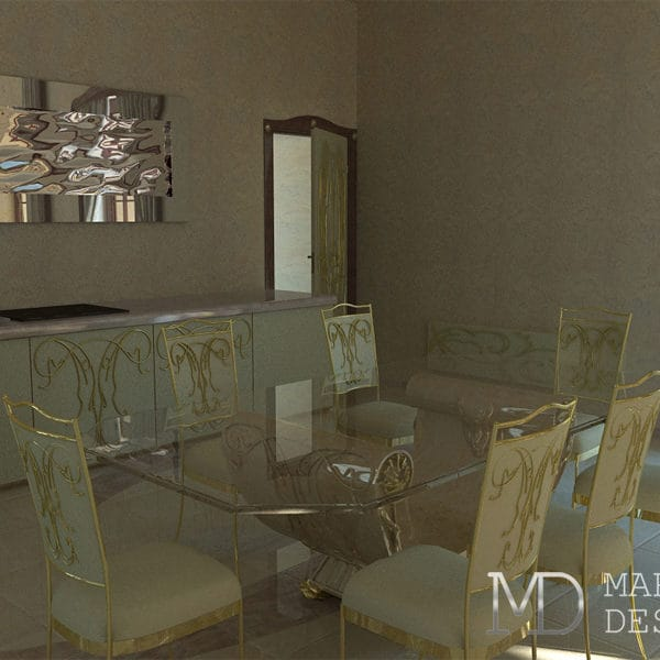 Дизайн столовой в загородном доме