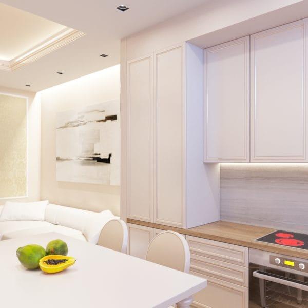 Дизайн-проект кухни в стиле современной классики