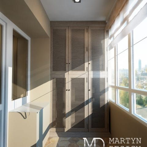 Дизайн проект интерьера балкона
