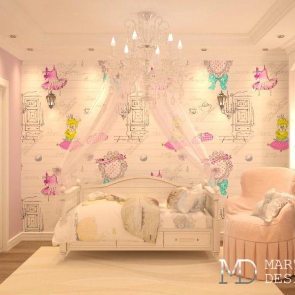 Интерьер детской комнаты в квартире размером 44 м2