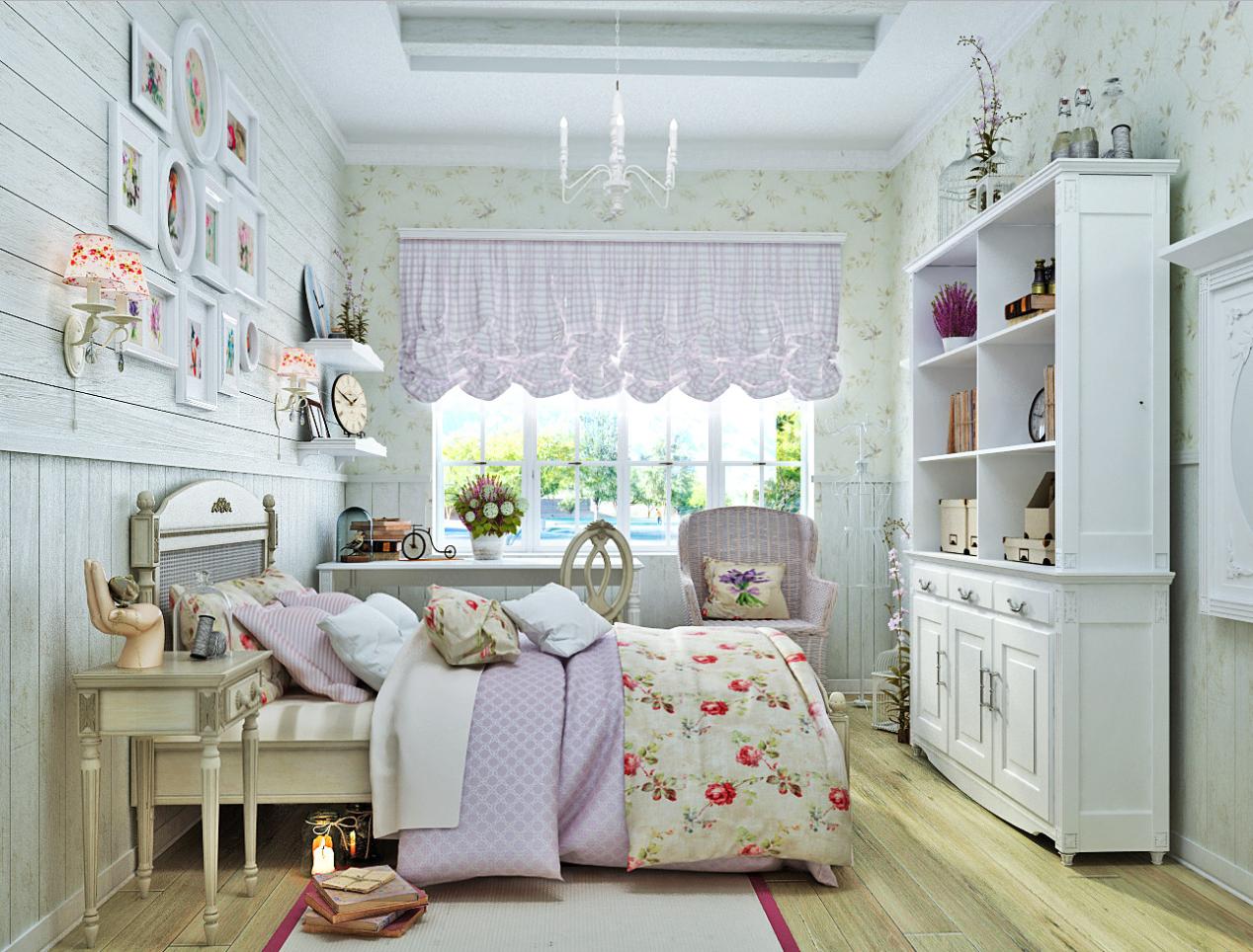 Дизайн интерьера детской комнаты для девочки в стиле прованс
