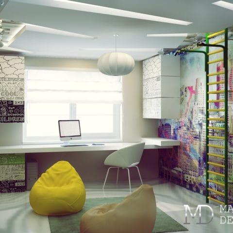 Дизайн детской в двухкомнатной квартире