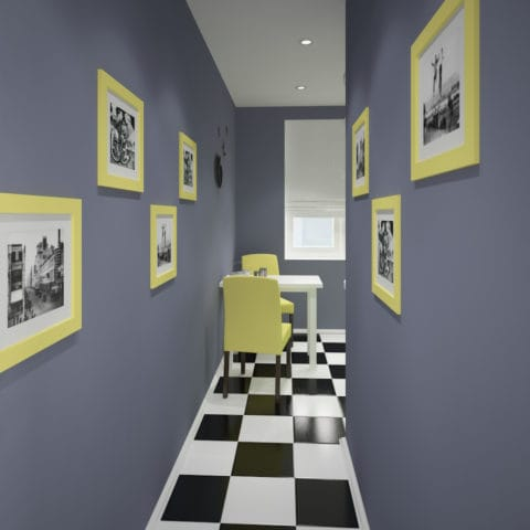 Дизайн проект коридора в доме п44т