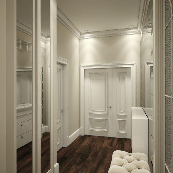 Дизайн коридора в двушке 65 м2