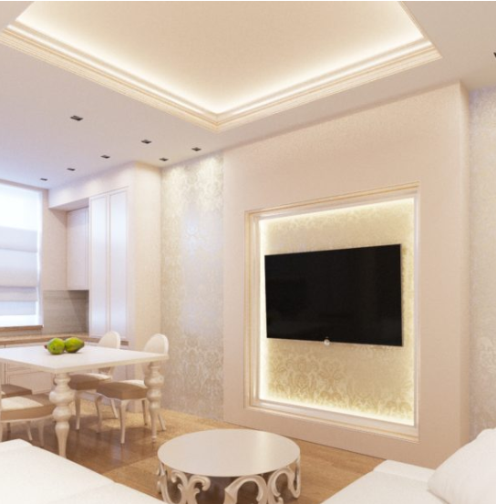 Дизайн проект интерьера в белых тонах