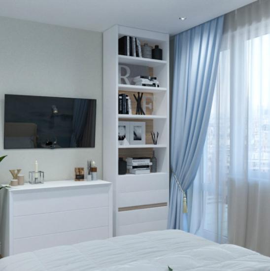 Дизайн проект квартиры на основе белого цвета