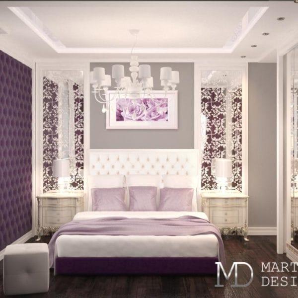 Дизайн интерьера спальни для взрослых в квартире 44 кв.м