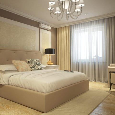 Дизайн проект спальни в небольшй двухкомнатной квартире