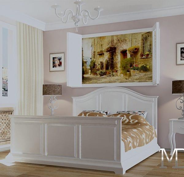 Дизайн проект спальни в трехмкомнатной квартире 75 кв м