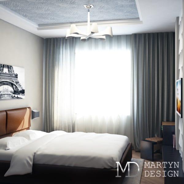 Дизайн проект спальни для взрослых в доме п44т