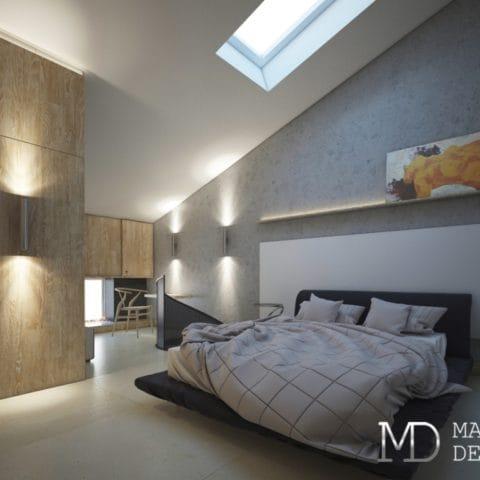 Дизайн спальни в двухкомнатной квартире 54 м2