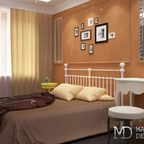 Дизайн спальни в маленькой двушке
