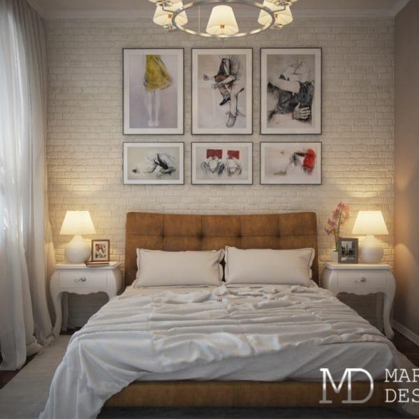 Дизайн спальни для взрослых в двушке размером 70 м2