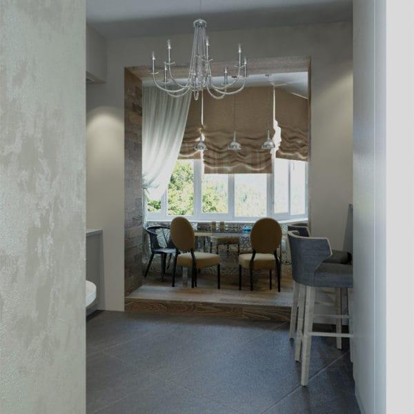 Дизайн проект столовой в двухкомнатной квартире