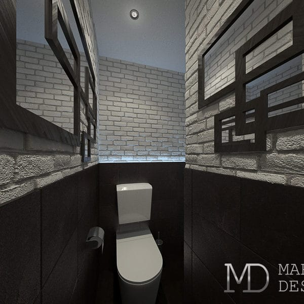Дизайн туалета в трешке 80 м2