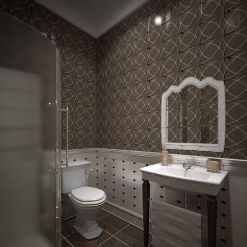 Дизайн ванной в частоном доме