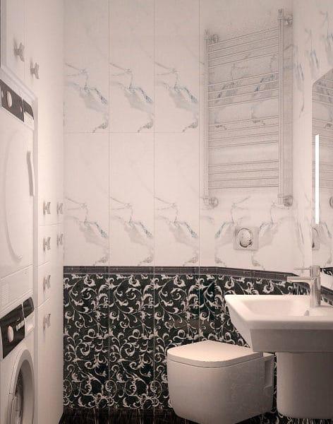 Дизайн ванной в квартире 85 кв м