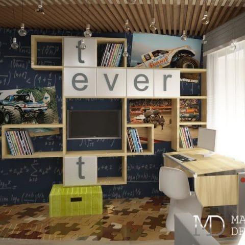 Дизайн проект интерьера двухкомнатной квартиры 60 м2
