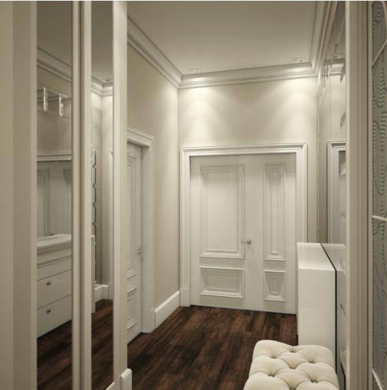 Интерьер квартиры на основе белого цвета