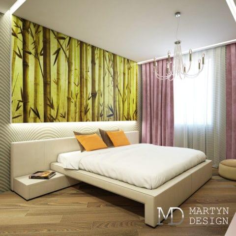 Интерьер спальни в большой квартире
