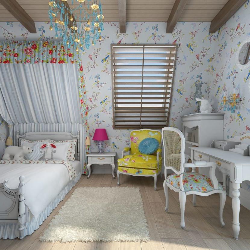 Комната для девочки в прованском стиле