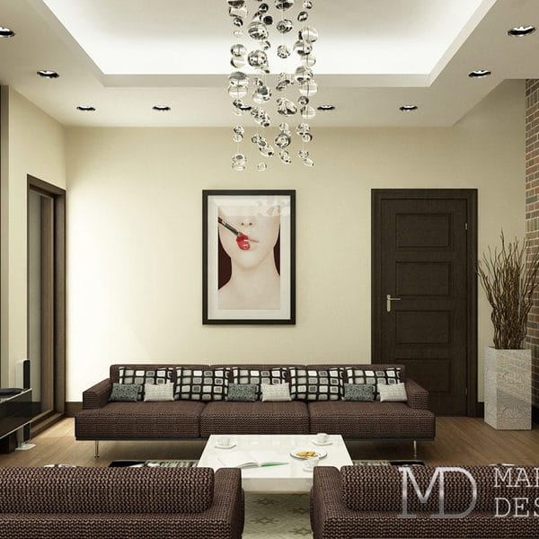 Дизайн квартиры-студии 30 кв. м в стиле «Авангард»