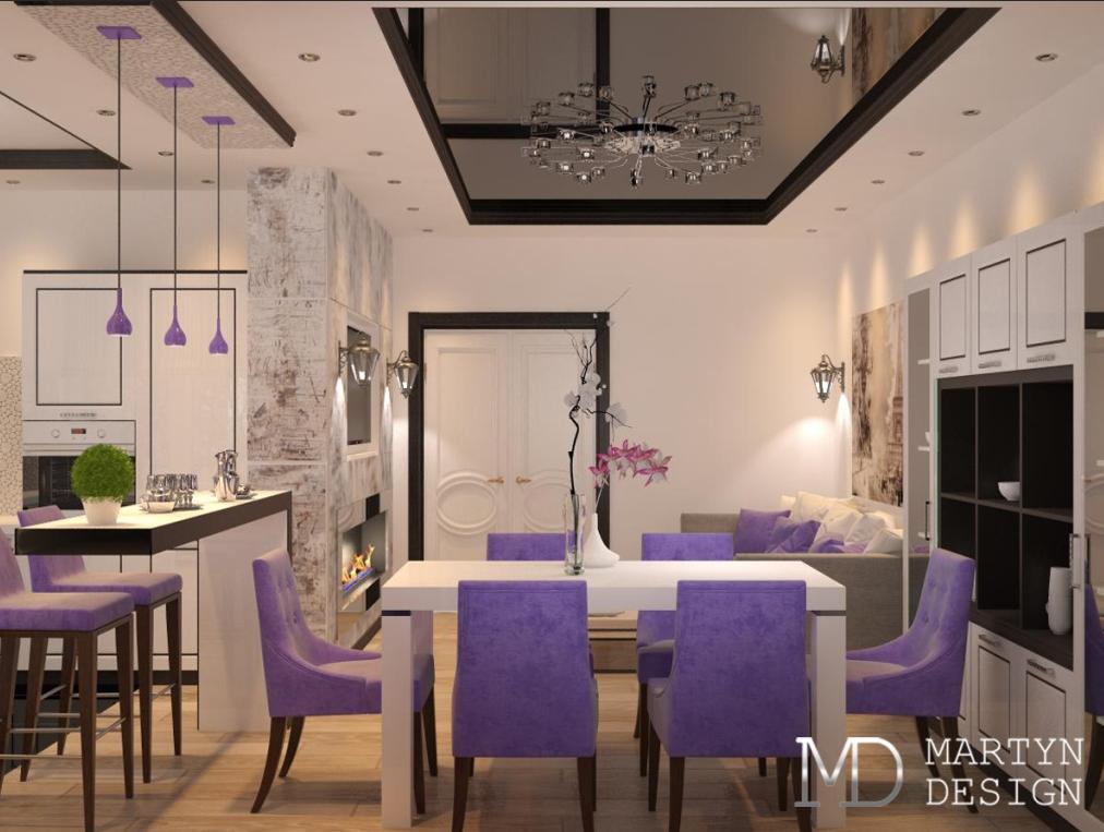 Перепланировка – кухня, совмещенная с гостиной