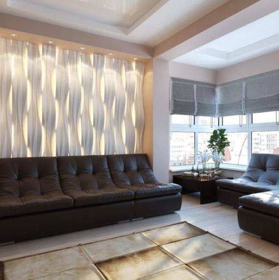Пример дизайна интерьера холостяцкой квартиры