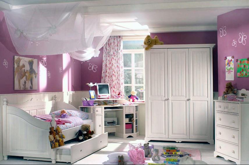 Стиль французского Прованса в дизайне спальни для девочки