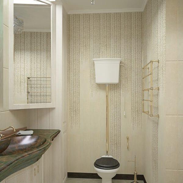 Дизайн туалета в загородном доме