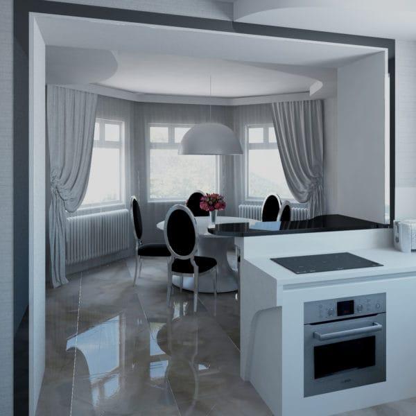 Дизайн интерьера загородного дома в стиле модерн