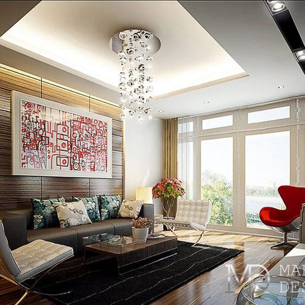 Дизайн трехкомнатной квартиры 100 кв. м в современном стиле