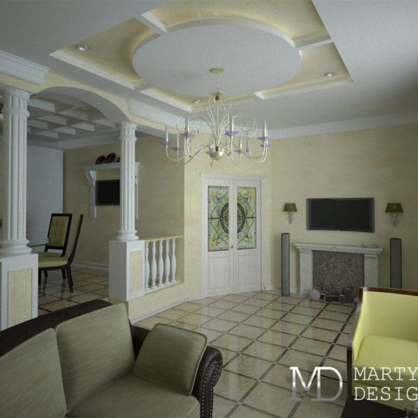 Дизайн-проект апартаментов в классическом стиле в Ялте 130 кв. м.