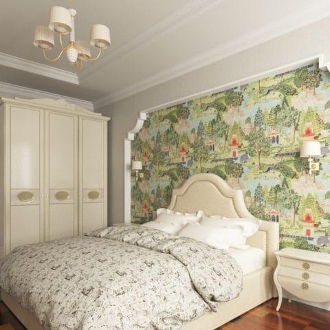 дизайн проект интерьера спальни в доме