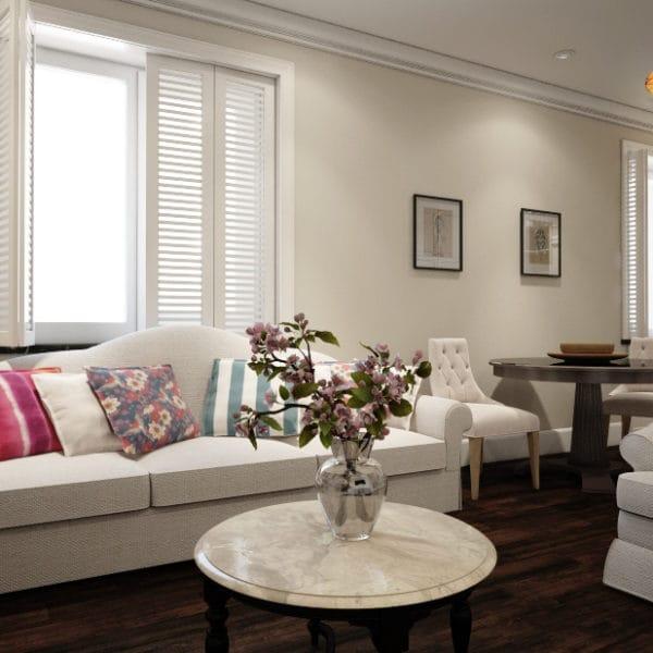 Дизайн двухкомнатной квартиры 65 кв. м в стиле прованс