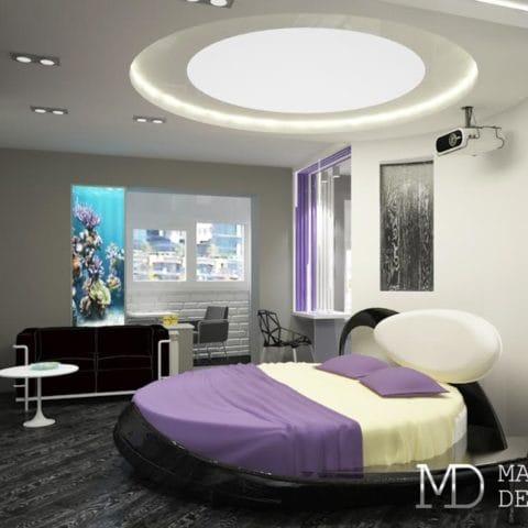 Дизайн проект 1 комнатной квартиры размером 35 кв. м