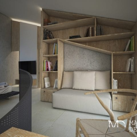 Дизайн 2 комнатной квартиры 54 кв м