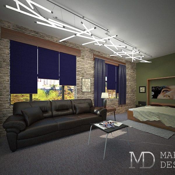 Дизайн интерьера небольшой квартиры студии размером 25 кв .м