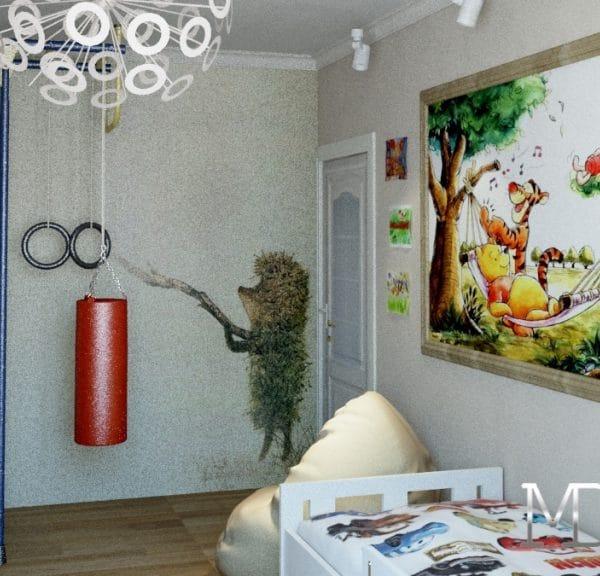 дизайн комнаты в квартире 75м2