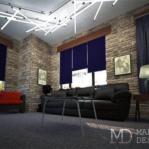 Дизайн квартиры студии в стиле Лофт