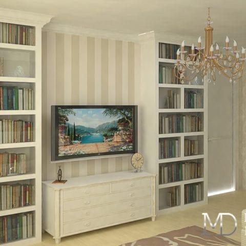 Дизайн проект интерьера однокомнатной квартиры 38 м2