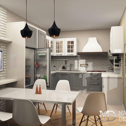 Интерьер панельной двухкомнатной квартиры 50 м2