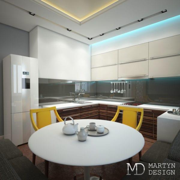 дизайн проект 3 комнатной квартиры п44т