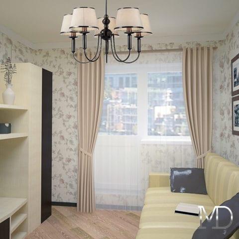 дизайн проект 3 комнатной квартиры в панельном доме