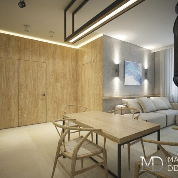 дизайн проект двухкомнатной квартиры 54 кв м