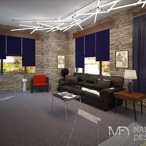 Интерьер квартиры студии размером 25 квадратных метров