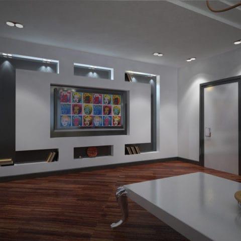 Дизайн интерьера большой однокомнатной квартиры