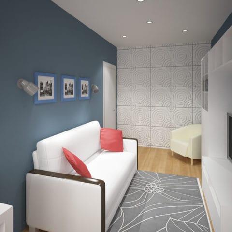Дизайн проект интерьера однушки в доме серии п44т