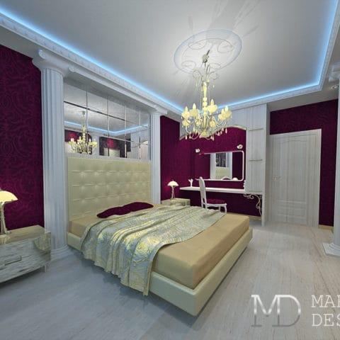 дизайн спальни в 3 комнатной квартире 80 м2